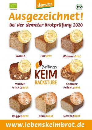 Plakat Auszeichung demeter 2020